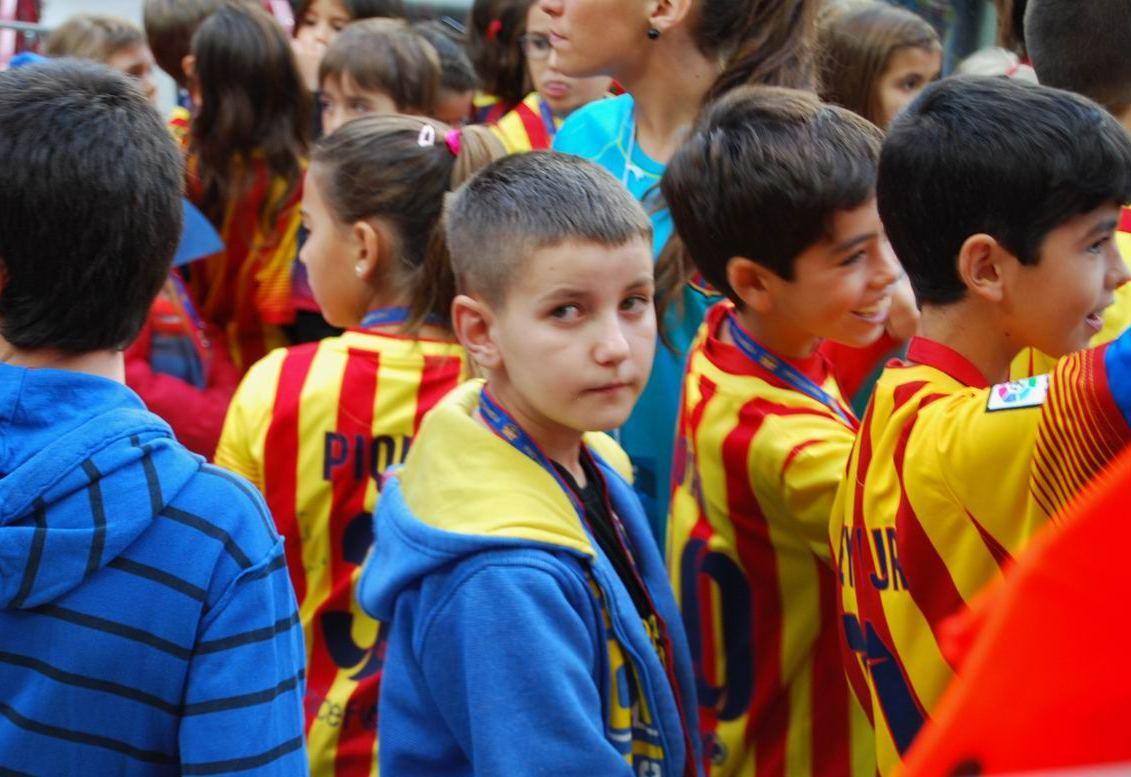 Kacper na Camp Nou